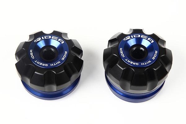 フロントアクスルスライダー ブルー RIDEA(リデア) GSX-S750