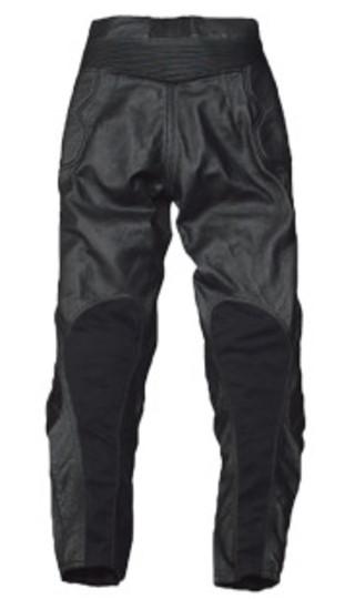 RLP-1410 カップ付ブーツインレザーパンツ(パンチング加工) ブラック 4Lサイズ Rookie(ルーキー)