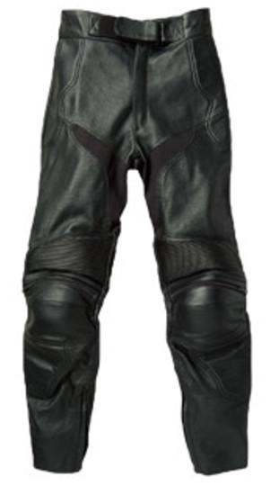 RLP-1411 カップ付ブーツインレザーパンツ(パンチング加工) ブラック Mサイズ Rookie(ルーキー)