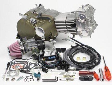 デスモドロミック4V コンプリートエンジン138cc(標準仕様) SP武川(TAKEGAWA)  モンキー(MONKEY)