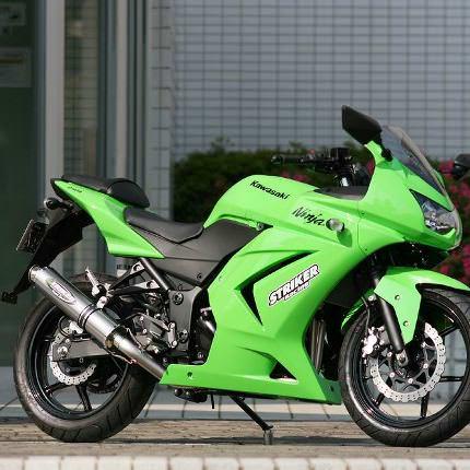STREET CONCEPT フルエキチタン2-1 JMCA認定H22騒音規制対応モデル STD 真円 Φ100-440mm STRIKER(ストライカー) Ninja250R(ニンジャ)