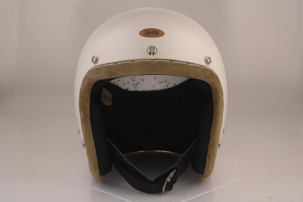 HAND STITCH Lot-103 ジェットヘルメット アイビーグリーントリム M(57cm〜58cm) SHM