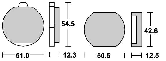 ストリート(セラミック)ブレーキパッド フロント用 510HF SBS(エスビーエス) Z550FX(81年〜)