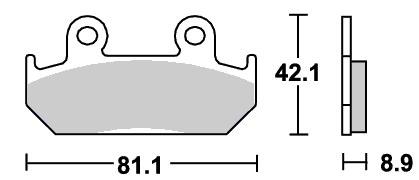 ストリート(セラミック)ブレーキパッド フロント用 593HF SBS(エスビーエス) NSR250R(86〜87年)