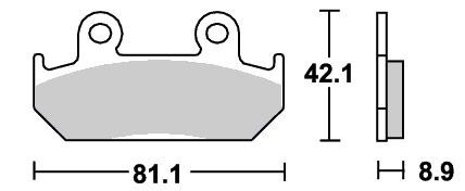 ストリートエクセル(シンター)ブレーキパッド フロント用 593HS SBS(エスビーエス) NSR250R(86〜87年)