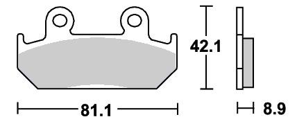 レーシング(カーボン)ブレーキパッド フロント用 593RQ SBS(エスビーエス) NSR250R(86〜87年)