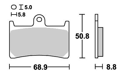 ストリート(セラミック)ブレーキパッド フロント用 639HF SBS(エスビーエス) FZR250R(89年〜)