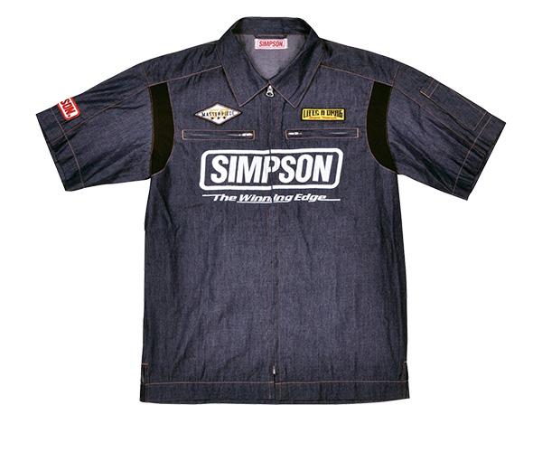 MSH-051 メカニックシャツ インディゴ Lサイズ SIMPSON(シンプソン)