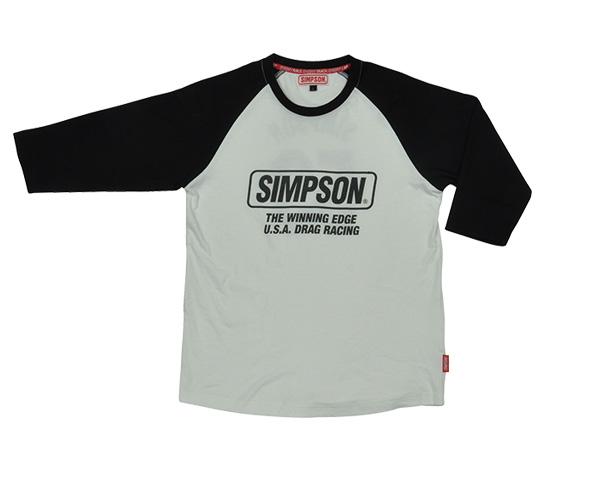 ST-118 Tシャツ(ロングスリーブ) ブラック/ブラック Lサイズ SIMPSON(シンプソン)