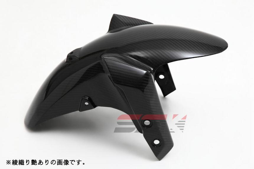 フロントフェンダー ドライカーボン 綾織り艶あり SSK(エスエスケー) MT-09/ABS(14年〜)