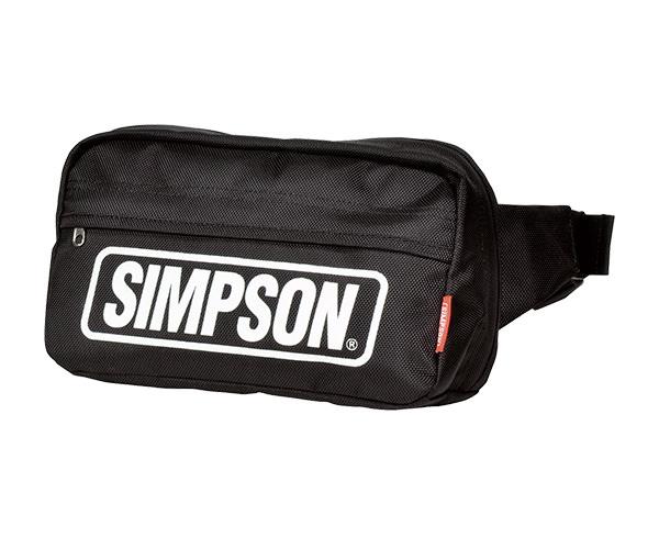 SB-312 ウエストバッグ ブラック&ホワイト SIMPSON(シンプソン)