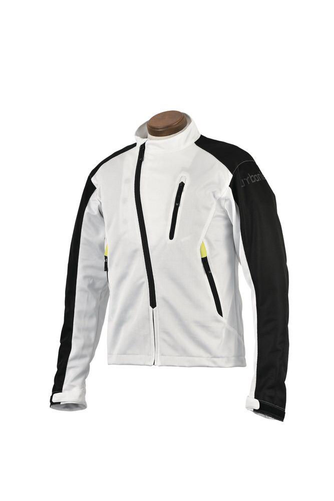 UNJ-069 モデストメッシュジャケット ホワイト 3Lサイズ urbanism(アーバニズム)