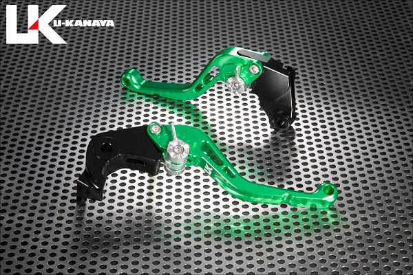 スタンダードタイプ ショートアルミビレットレバーセット グリーン U-KANAYA Z900RS