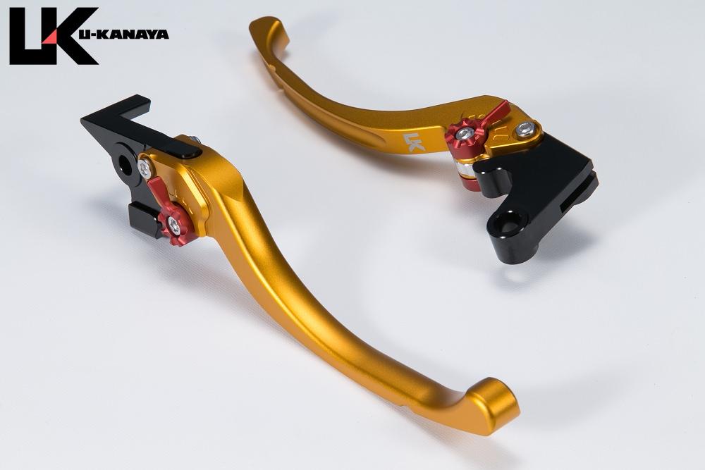ツーリングタイプ アルミビレットレバーセット マットゴールド U-KANAYA GSX1300R(隼)99〜07年