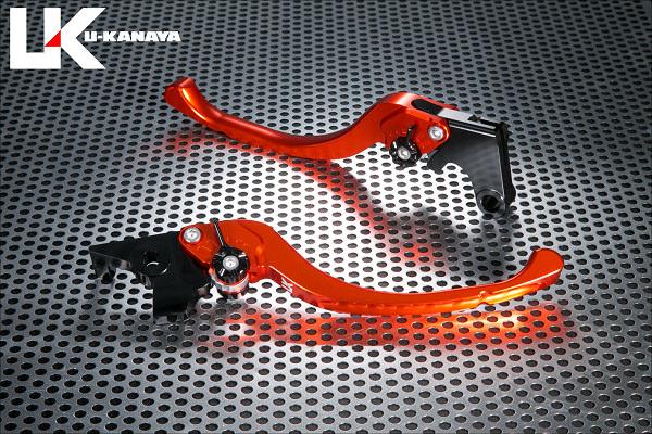 ツーリングタイプ アルミビレットレバーセット(オレンジ) U-KANAYA バンディット400/V(BANDIT)GK75A