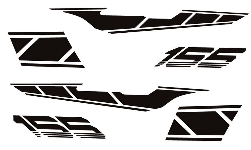ストロボステッカー【単色】 つや消しブラック WORLD WALK(ワールドウォーク) マジェスティS(MAJESTY)SG28J