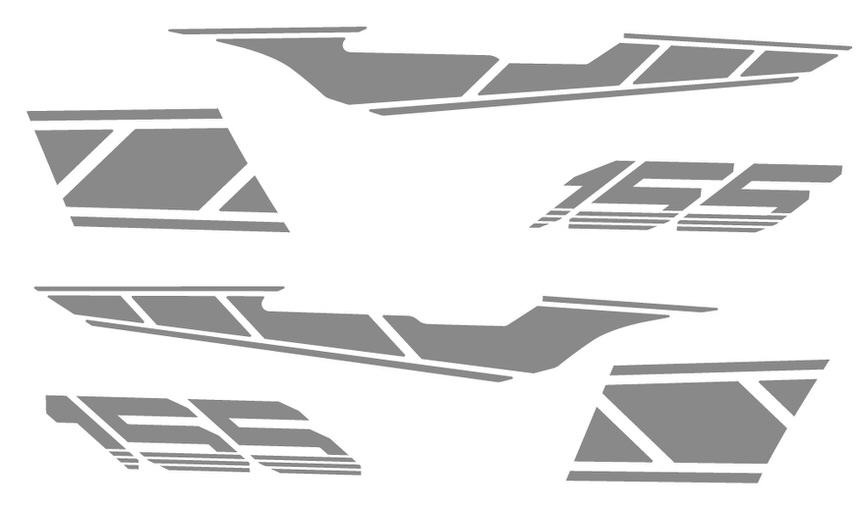 ストロボステッカー【単色】 シルバー WORLD WALK(ワールドウォーク) マジェスティS(MAJESTY)SG28J