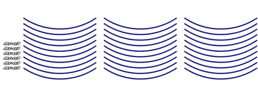 ソリッドカラーリムステッカー ブルー WORLD WALK(ワールドウォーク) MT-03
