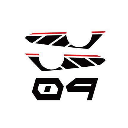 スタンダードストロボステッカー【二色】黒ストロボ×赤ライン WORLD WALK(ワールドウォーク) MT-09