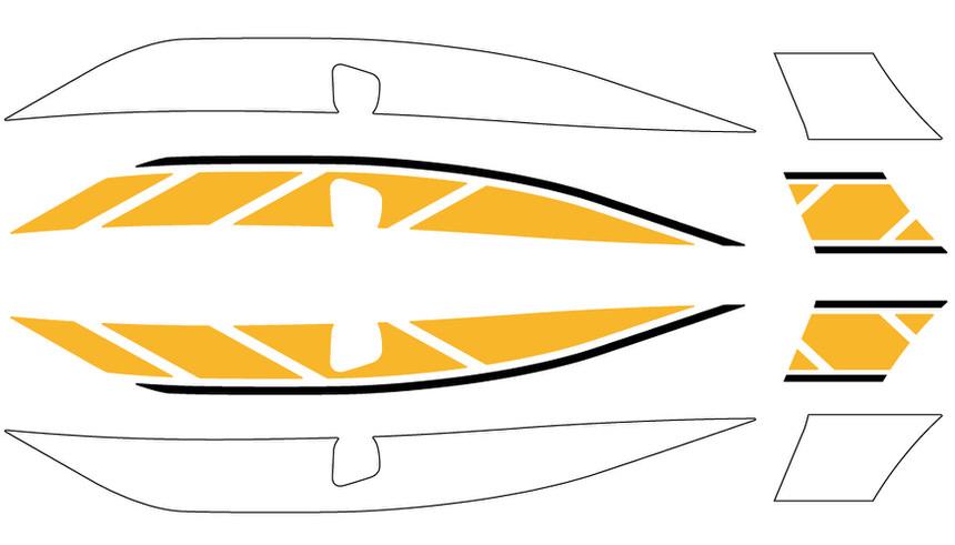 ストロボステッカー 【2色】 ブラック・イエロー WORLD WALK(ワールドウォーク) シグナスX SR(CYGNUS-X)EBJ-SEA5J