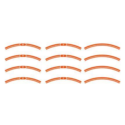NEO CLASSICリムステッカー 単色 橙 WORLD WALK(ワールドウォーク) W400