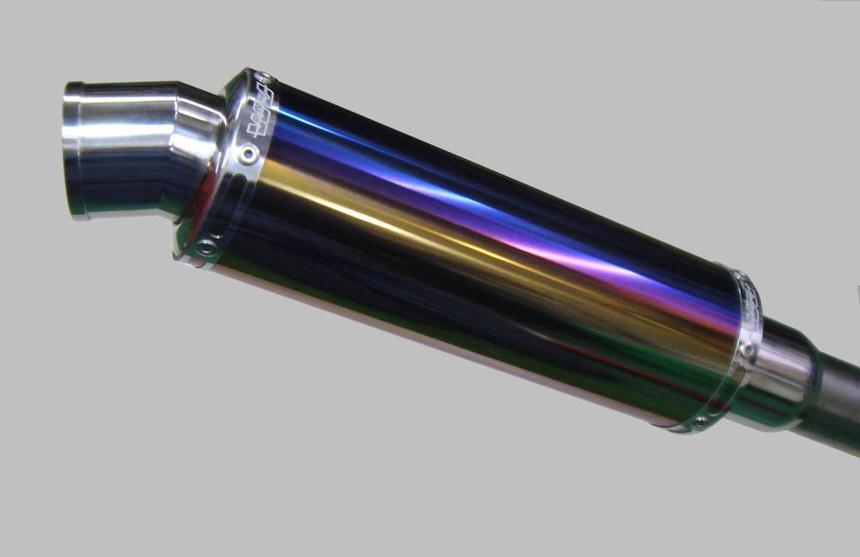 スネーク・コーン・パイプサイド・アップ WJ-S チタンブルー 政府認証 ウインドジャマーズ アドレスV125S(ADDRESS)CF4MA