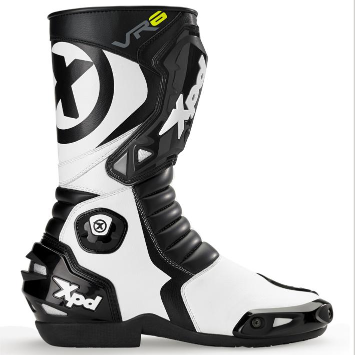 XPN020 VR-6 2 レーシングブーツ ブラック/ホワイト 28.0cm(44) XPD(エックスピーディー)