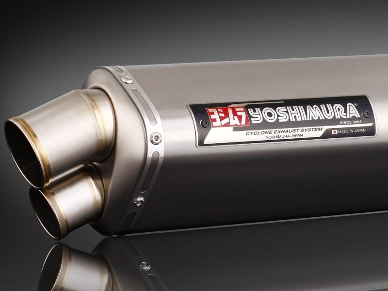 Tri-Ovalチタンサイクロン 2エンド TT (チタンカバー) フルエキゾーストマフラー YOSHIMURA(ヨシムラ) GSX1300R(隼)08年〜