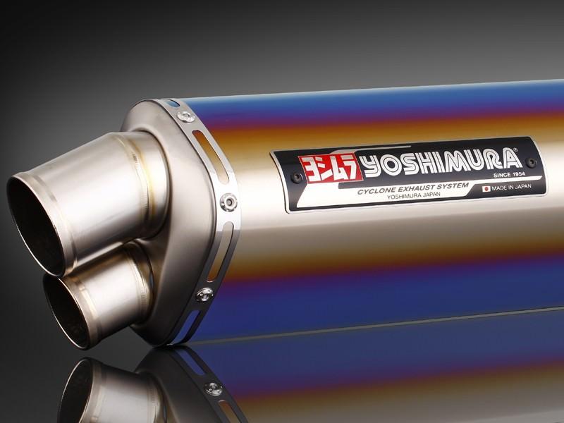 Tri-Ovalチタンサイクロン 2エンド TTB (チタンブルーカバー) フルエキゾーストマフラー YOSHIMURA(ヨシムラ) GSX1300R(隼)08年〜
