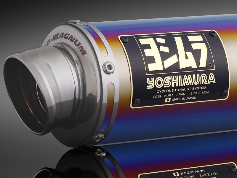 レーシングチタンサイクロン GP-MAGNUM TTB (チタンブルーカバー) フルエキゾースト YOSHIMURA(ヨシムラ) Ape100(〜07年)/D(08〜10年)