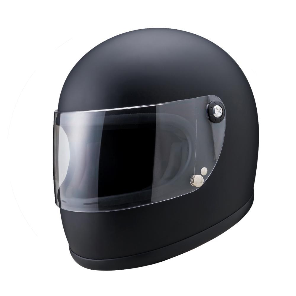 山城謹製 ニューレトロフルフェイスヘルメット マットブラック Sサイズ 山城(YAMASHIRO)